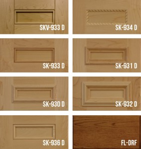 "Shaker with 1/4"" Panel Cabinet Doors Stile & Rail"